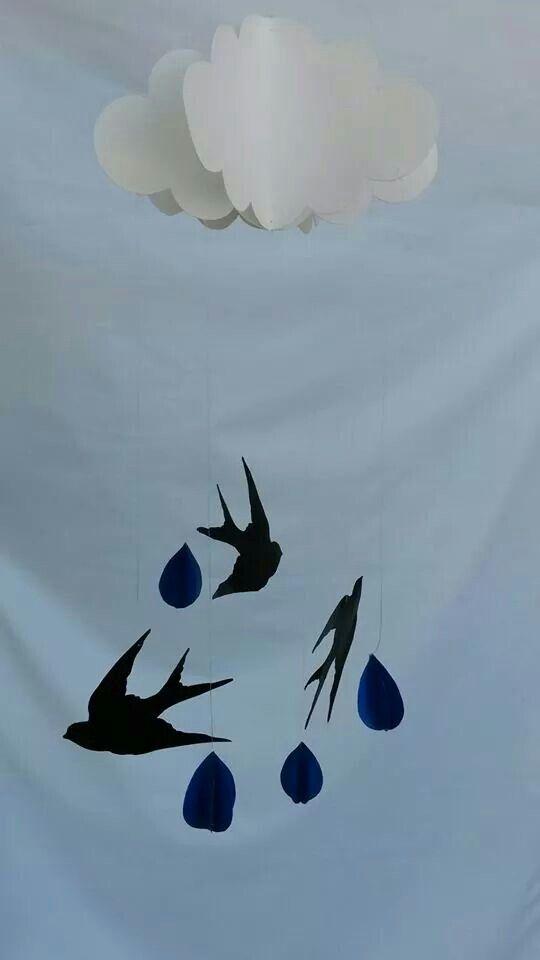 Móvil decorativo vintage!  Entre pájaros y nubes! www.facebook.com/decoraire
