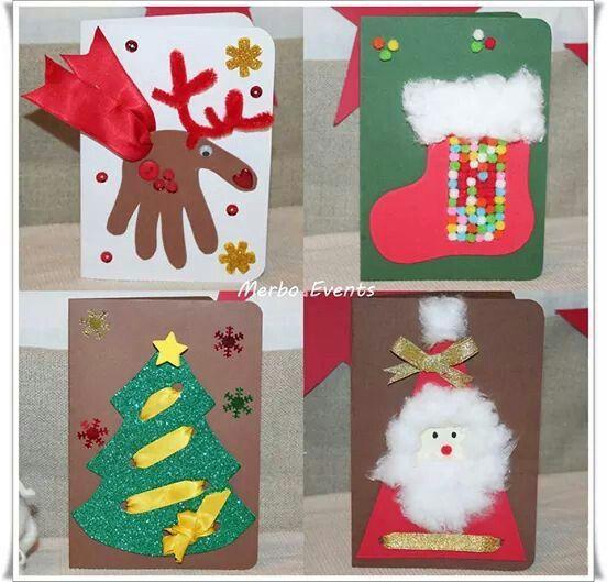 M s de 25 ideas incre bles sobre trabajos manuales de - Tarjeta de navidad para ninos manualidades ...