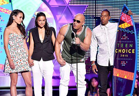 #TheFam #Furious: Jordana Brewster, Michelle Rodriguez, Vin Diesel and Ludacris