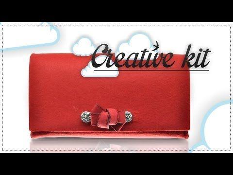 """Come fare """"Borsa in feltro (Mod. Fiocco)"""" Tutorial Creative kit - YouTube"""