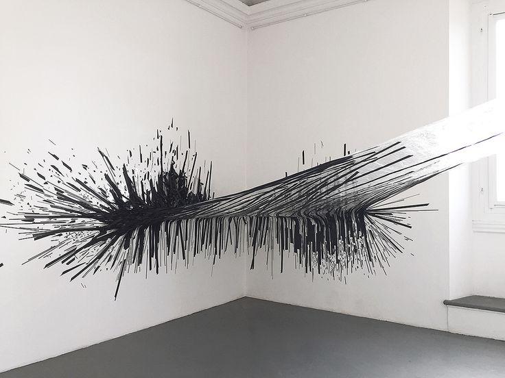 Monika Grzymala's Dynamic Installations Made of Sticky Tape | Hi-Fructose Magazine