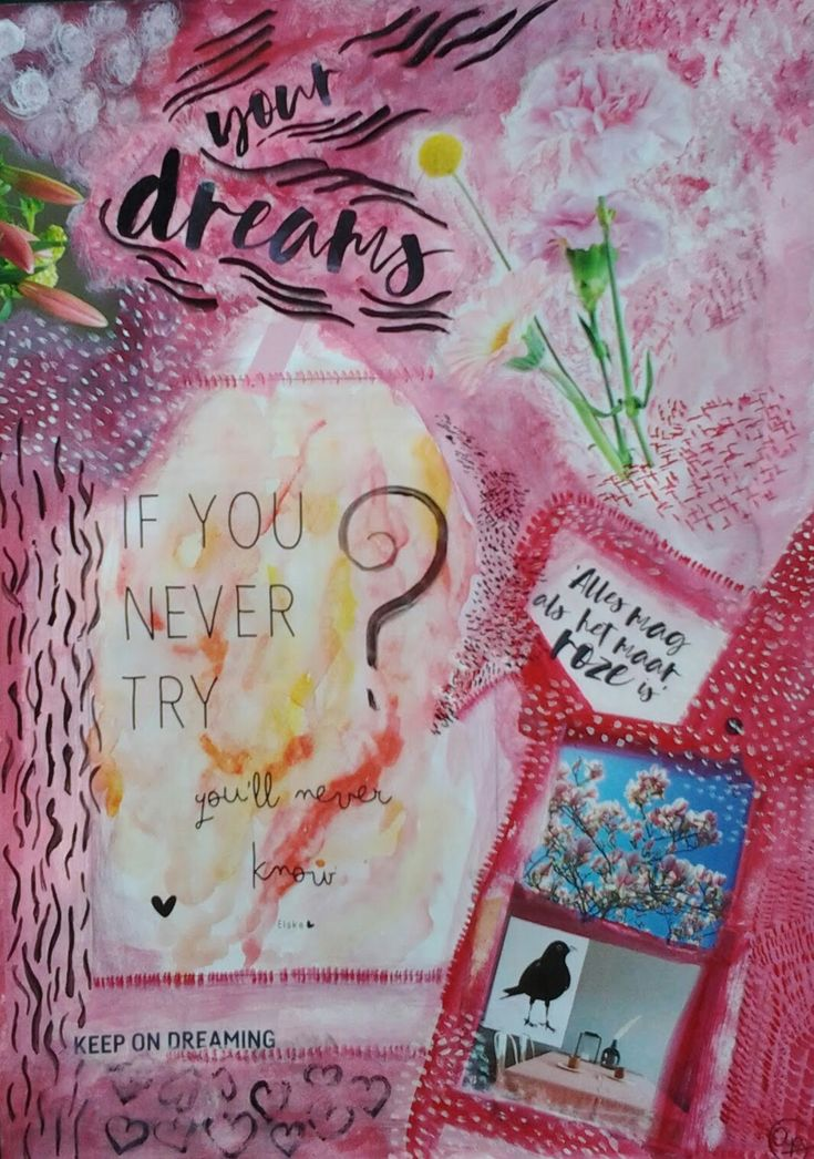 Love to be creative. #pink #roze #artjournal #artjournal  #journaling #collage