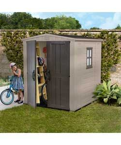 keter apex plastic garden shed 6 x 6ft