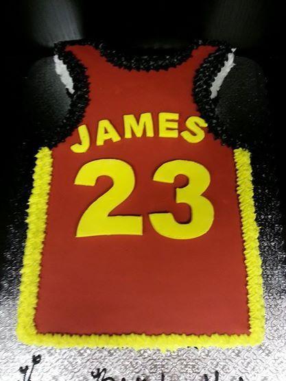 c42177b97676 LeBron James Jersey Cake