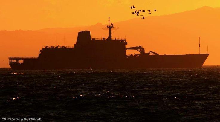 SAS Drakenberg at sunrise