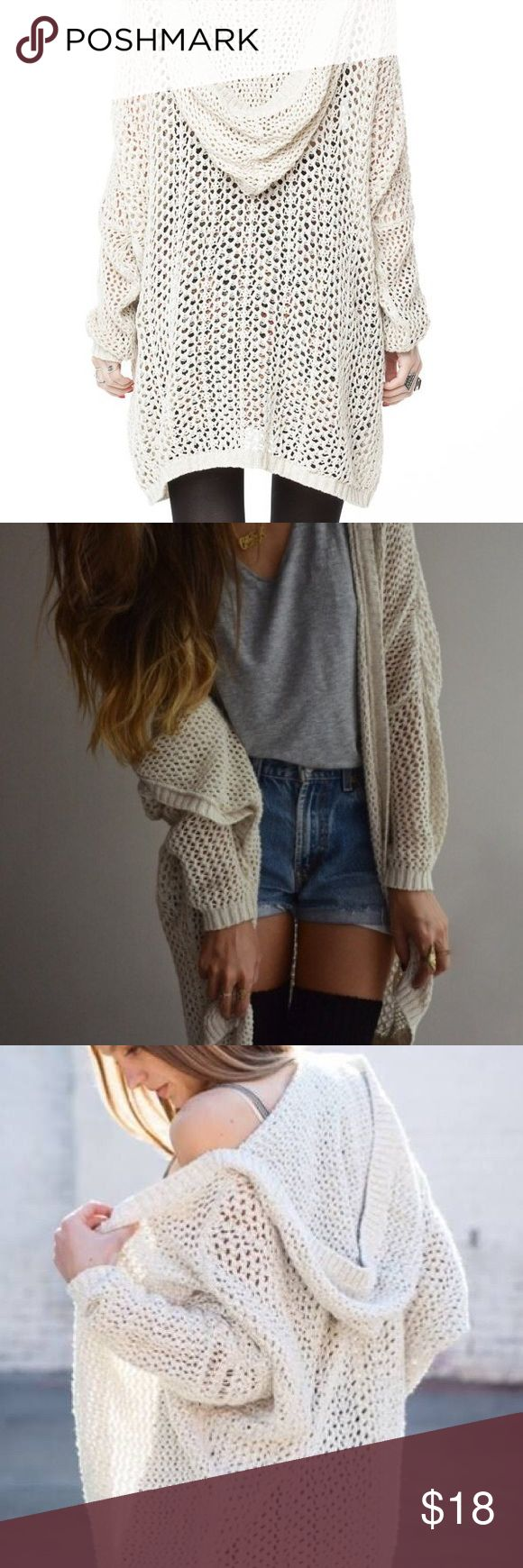 Brandy Melville Moselle Cardigan Brandy Melville Cardigan. Tan color and one tear in the shoulder... this is definitely fixable! Otherwise in great condition. Brandy Melville Sweaters Cardigans