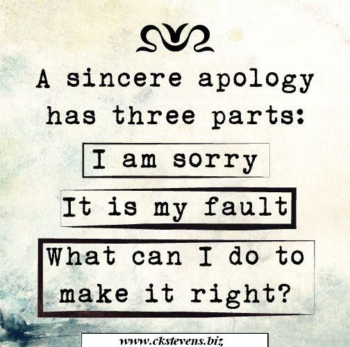A sincere apology has three parts: (1.) I'm sorry, (2.) It's my fault, and (3.) What can I do to make it right? Don't you hate it when you have to do these three things? But the results are so worth it!   Since you told a lie to all ...Tell the TRUTH to all!