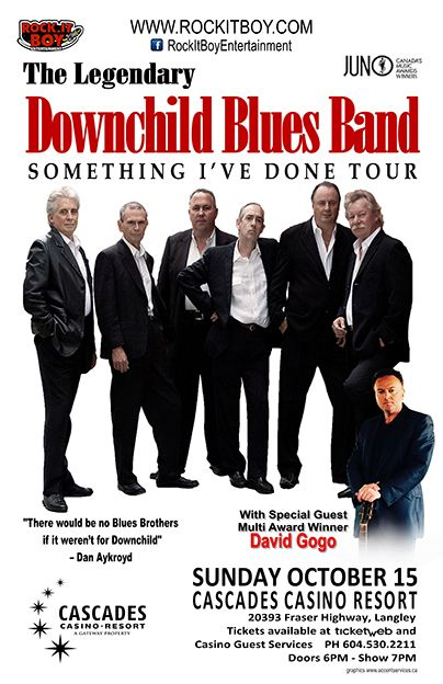 SPECIAL GUEST David GoGo with THE LEGENDARY DOWNCHILD BLUES BAND OCT.15TH
