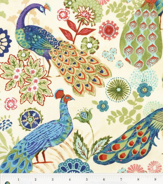 Keepsake Calico Fabric Royal Peacock Fun for a little bit of accent