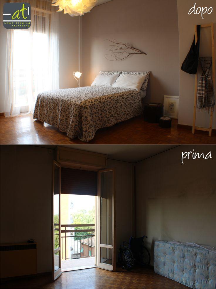 """""""la casa che non ti aspetti""""#3: una camera che grazie alla luce morbida e ai colori caldi ispira momenti di riposo e relax. Anche questo è home staging."""