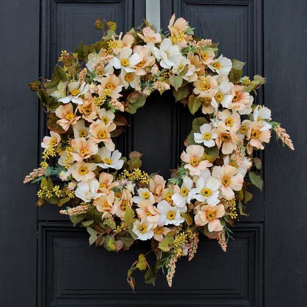 Wildflower Wreath Everyday Wreath Fall Wreaths for Front Door Fall Door Decor Wreath for Door or Mantle