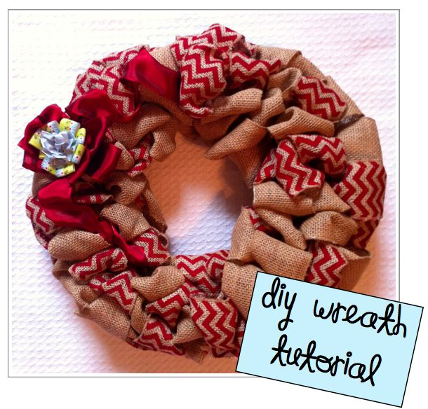 Simple DIY burlap wreath tutorial! NCSU colors! Perfect for fall/football season!