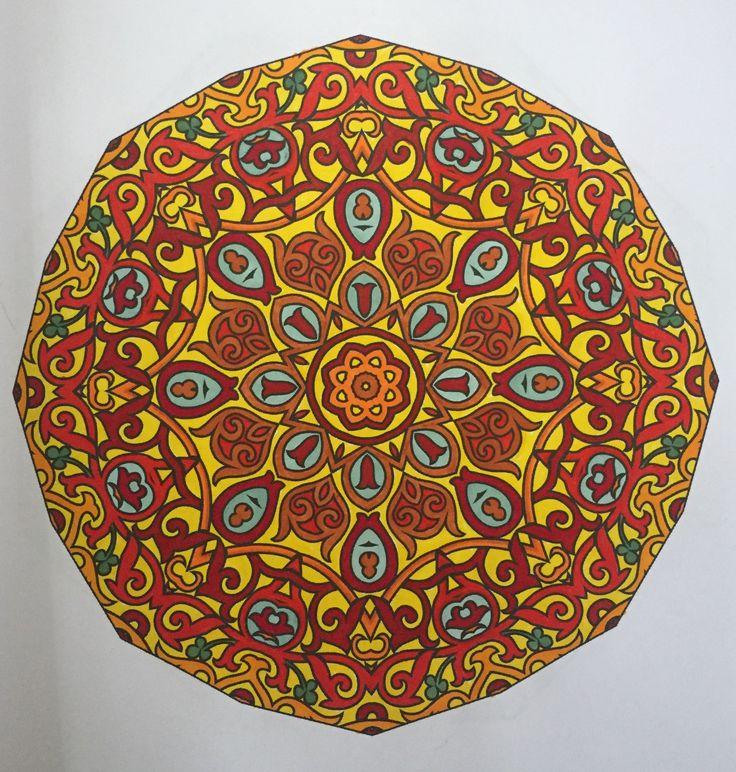 Mandala Design From Kipadoodles Adult Coloring Books Mandalas Book Volume 1