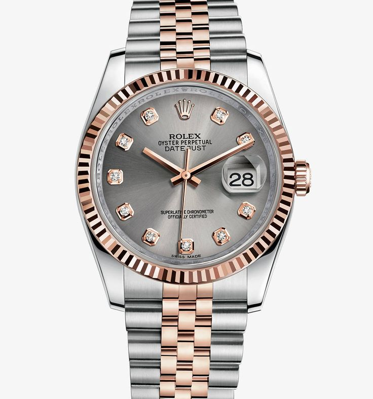 Rolex Datejust 36 mm Watch: Everose Rolesor - combination of 904L steel and 18 ct Everose gold – M116231-0100