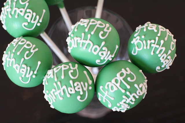 Birthday Cake Pops by Sweet Lauren Cakes, via Flickr