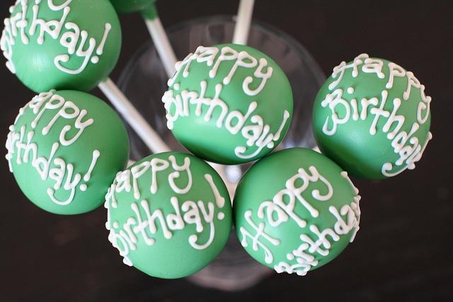 Birthday Cake Pops by Sweet Lauren Cakes, via Flickr