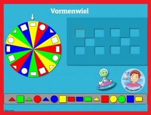 Vormenwiel met kleuters op digibord of computer 1, kleuteridee / Shape Game for preschoolers in IWB or computer