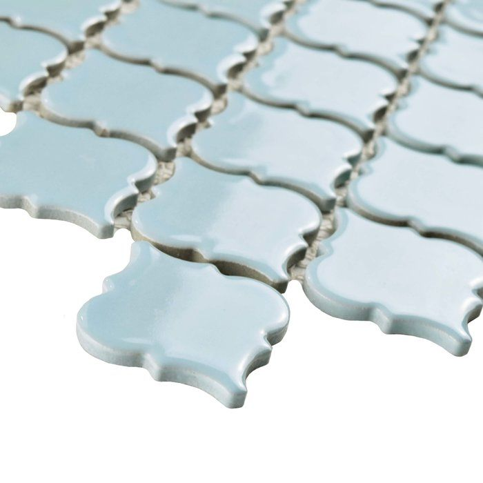 The Pharsalia in cashmere blue features a soothing powder blue color and a classic lantern shape. This tile will coordinate well with other tiles in the Pharsalia series, between their many colors and finishes. This tile features a uniformly glazed surface with a smooth texture. These tiles can be used both indoors and out.