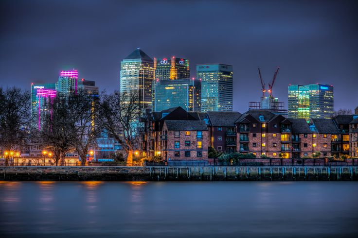 Canary Wharf By Night (Canary Wharf is a major business district located in Tower Hamlets, London, United Kingdom.