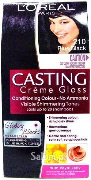 L'OREAL PARIS CASTING CREME GLOSS 210 BLUE BLACK Saloni™ Health