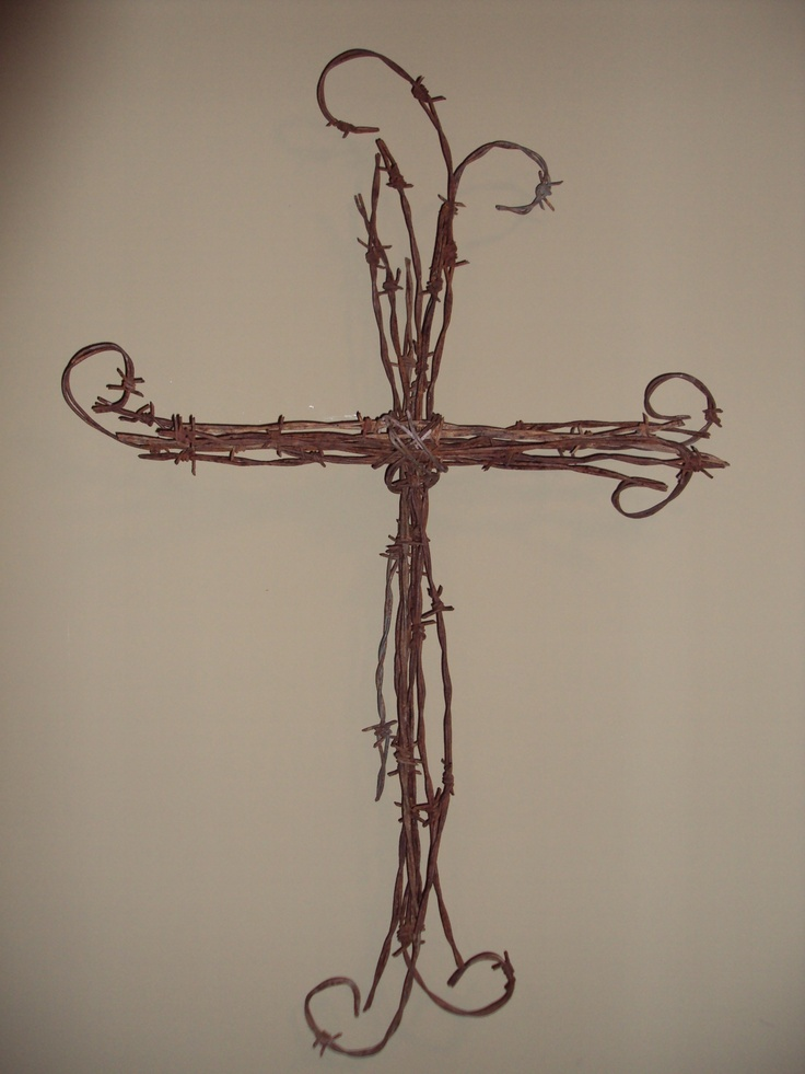 Barb Wire Cross- Very nifty