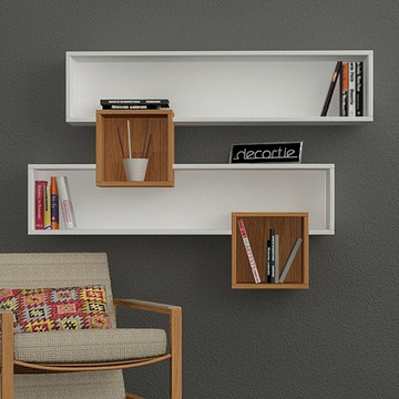 Salad Wall Shelves White Walnut, now featured on Fab.