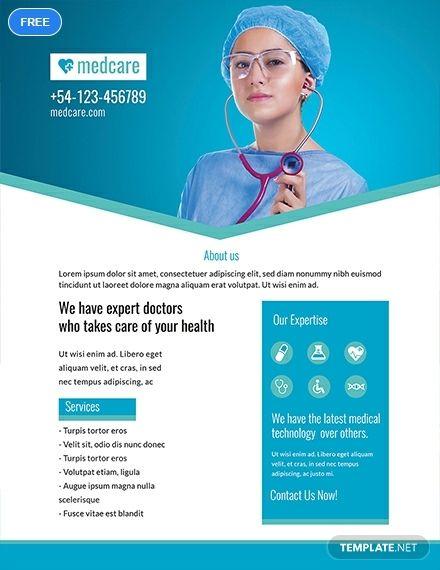 Free Sample Medical Flyer Health Flyer Design Templates