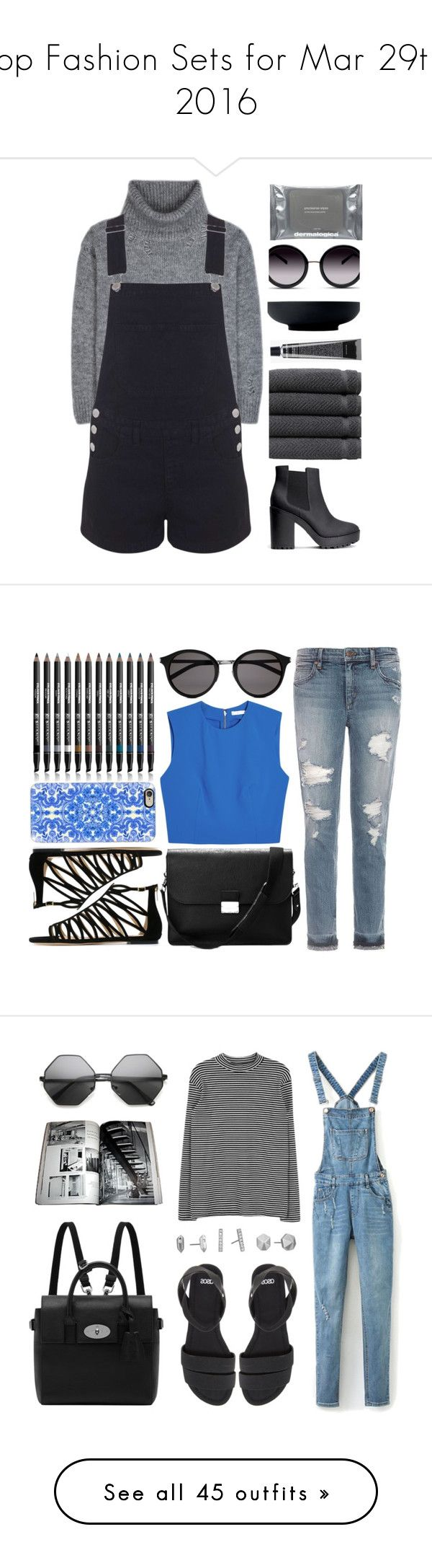 """""""Top Fashion Sets for Mar 29th, 2016"""" by polyvore ❤ liked on Polyvore featuring Yves Saint Laurent, Miss Selfridge, H&M, Linum Home Textiles, GlassesUSA, Grown Alchemist, Dermalogica, Royal Doulton, denim and polyvoreeditorial"""