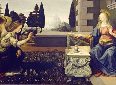 ..y en el Renacimiento LEONARDO nos  propone una relación más equilibrada del cielo y la tierra...