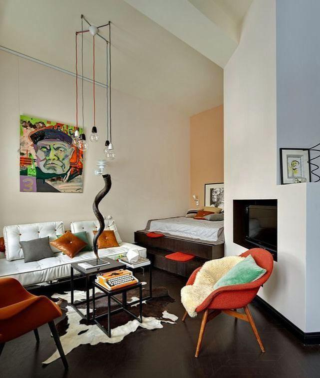 Un petit salon beau et moderne