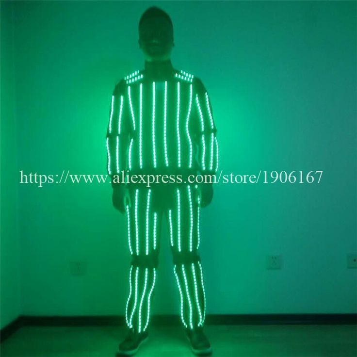 Hot sale new design led costumes RGB led robot suit stage dance show performance bar ballroom free shipping