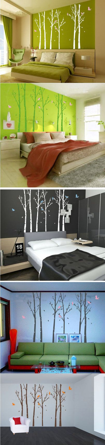 Tree wall decal big trees wall vinylvinyl by theeasylife on etsy 77 00