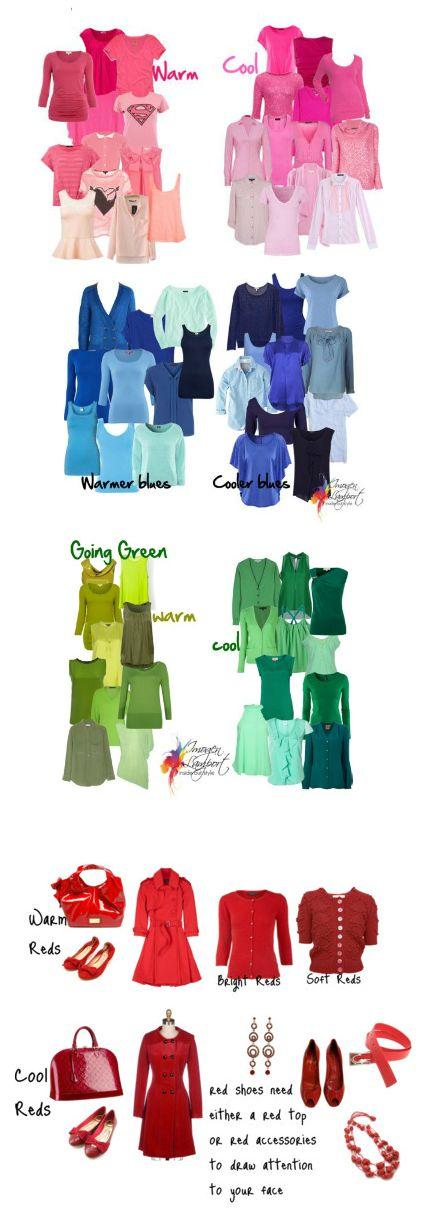 Ein guter Überblick und Vergleich zwischen warmwn und kalten Farben // Great overview of colors