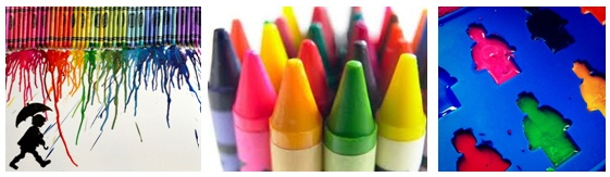 Fabulous things to make with melted crayons!  A MessPots roundup.