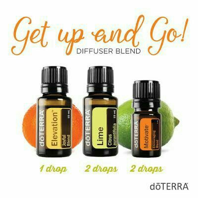 Get Up and Go Essential Oil diffuser blend DoTERRA Elevation blend Lime DoTERRA Motivate blend https://www.mydoterra.com/essentialoilswithbetsy