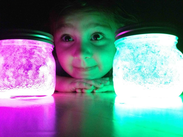 Cut the top off a few glow sticks pour in a mason jar add about two inches of water shake and vawala! If its not bright enough simply dump in more glow sticks! Love it and will use all summer :)