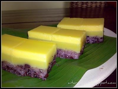 Recipes today - Kuih Talam Pulut Hitam