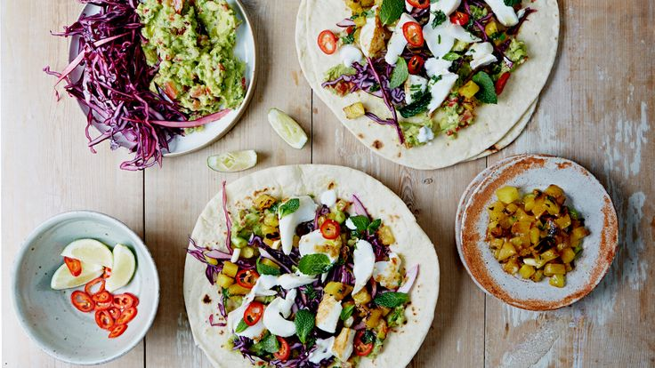 Mexican Fish Tacos with Charred Pineapple Salsa