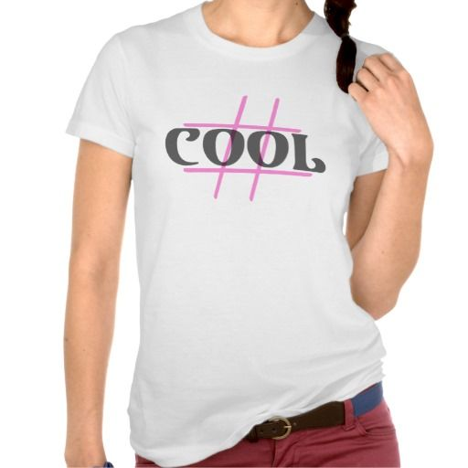Hashtag #COOL Transparent Black over Pink T-Shirt Featuring a Roughly sketched pink hash-tag set beneath the slightly transparent 'COOL' text in black. We're sure everybody will adore this design!