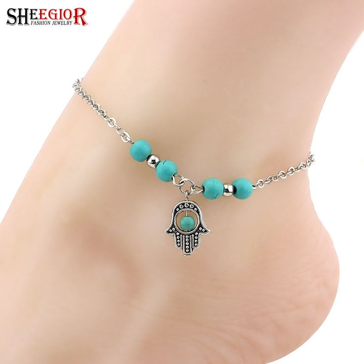 Sexy Silver plated Foot chain Anklets for women Life Tree Cross Hand Tortoise foot jewelry Beach Barefoot Sandals Ankle Bracelet Only at: $4.99 & FREE Shipping Worldwide