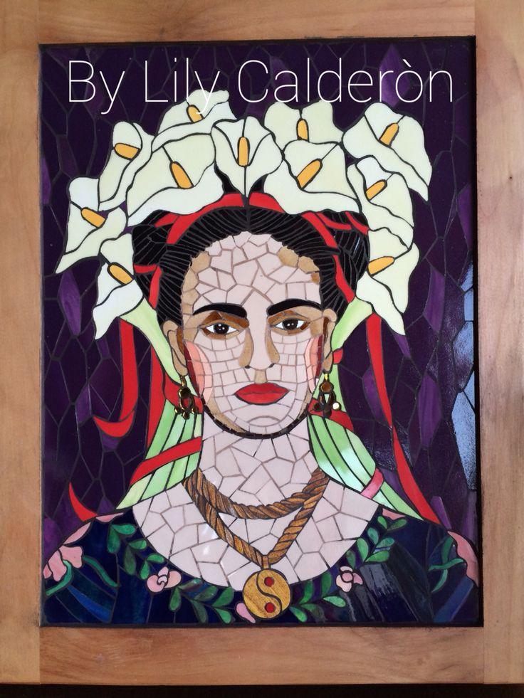 Adaptaciòn a mosaicos. Frida Kalho