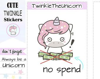 Check out A126 |  no spend stickers,planner stickers,shopping stickers,etsy stickers,online shop stickers,kawaii stickers, emoji,budget,live planner on twinkletheunicorn