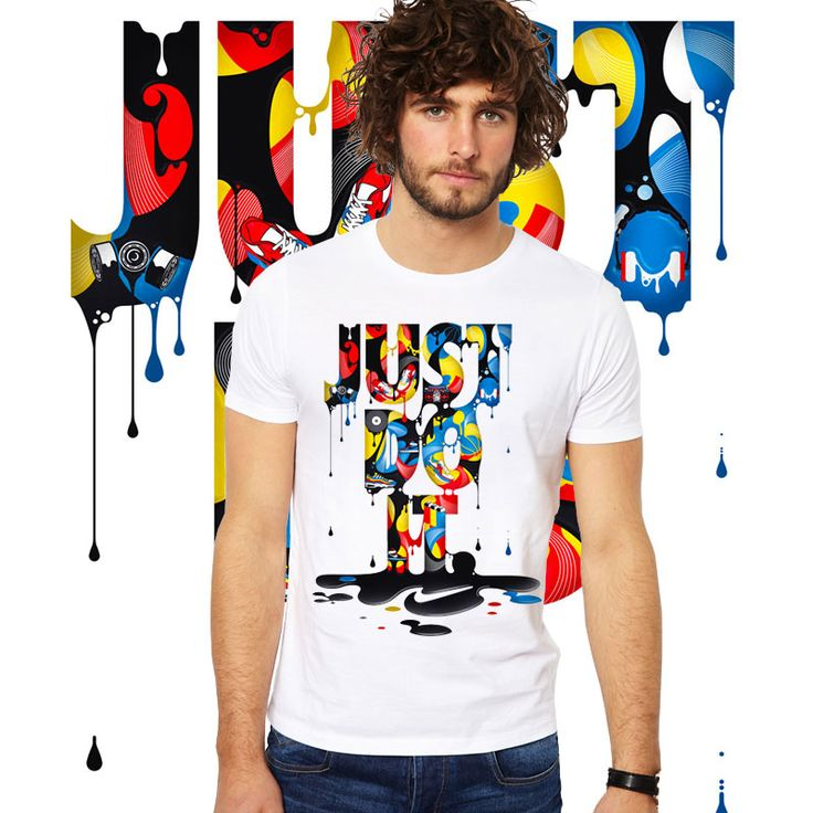 Summer Illustrations design Casual JUST DO IT T Shirt Men Women Fashion funny Fashion T-Shirt Streetwear top tees  camiseta
