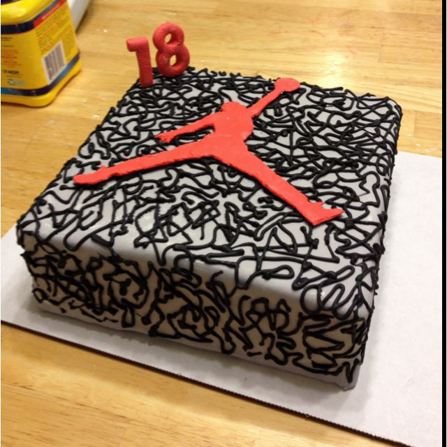 Cake Design Jordan : My air Jordan cake! Kimmi s Cakes Pinterest Jordans ...