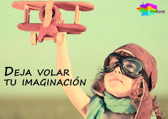 ¡DEJA VOLAR TU IMAGINACIÓN! Haz de tu comunicación una manera simpática, atractiva, imaginativa... de comunicarte con tus potenciales clientes. Ya disponible, esta y muchas más postales, en los circuitos CoolCards de Castellón. BÚSCANOS!