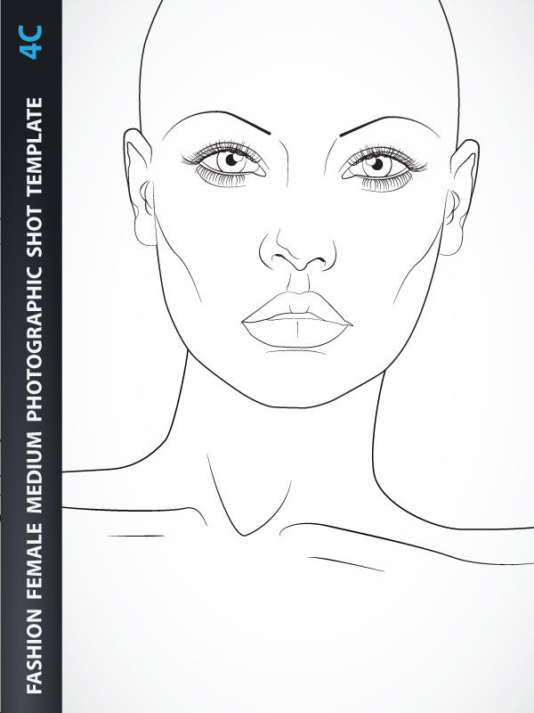 Female Fashion Illustration Template – Basic Female Upper Body for Fashion Beachwear, Accessories or Tops Design, includes fashion female upper body with head from the front view with all details like eyes, nose, mouth, neck, ears, hands, nails, breasts… Fashion Template is created based on Medium Photographic Shot.