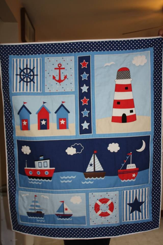 Nauticle Quilt Perfect For Tummy Time Or As A Wall