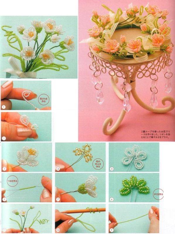 Tutorial Цветочные композиции / Цветы / Biserok.org