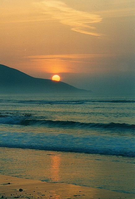 Sunset at Slievemore Mountain, Achill Island, Co. Mayo, Ireland