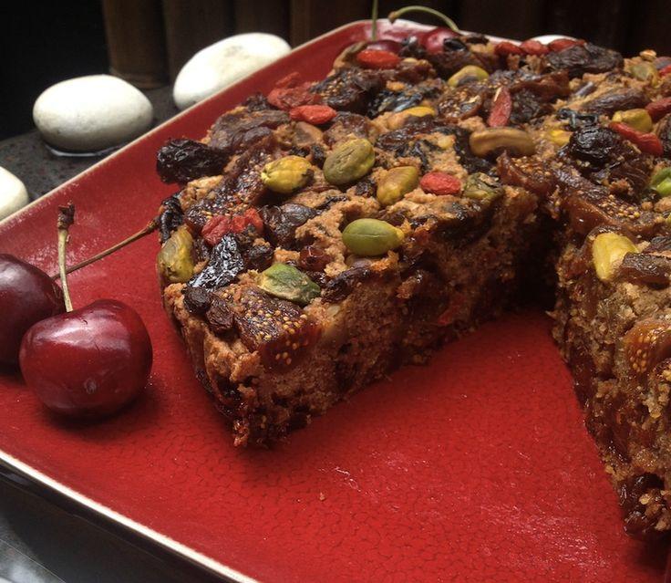 Healthy Christmas Cake. Vegan. Grain Free. Refined Sugar Free. Gluten Free.